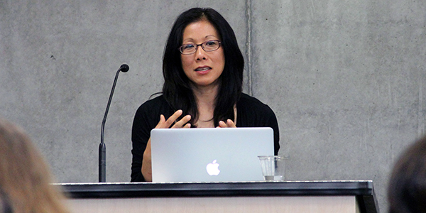 Mimi Ito speaks to students at UC Irvine.